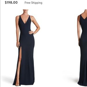 Dress The Population Slit Gown